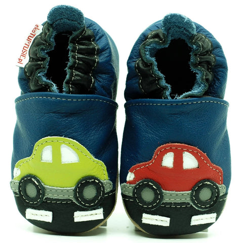 Babbucce Soft Sole Cars On The Road | FIORINO | RocketBaby.it