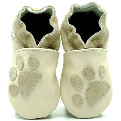 Babbucce Soft Sole Paws On Cream | FIORINO | RocketBaby.it