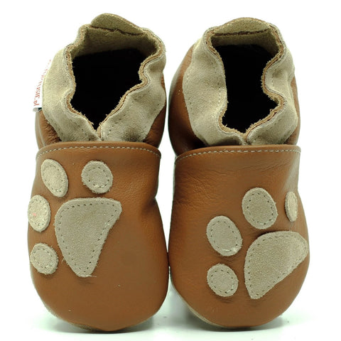 Babbucce Soft Sole Paws On Light Brown | FIORINO | RocketBaby.it