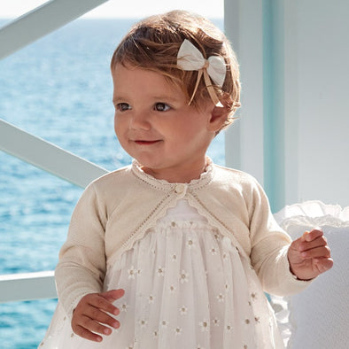 Cardigan a Onda Sabbia Lurex | MAYORAL | RocketBaby.it