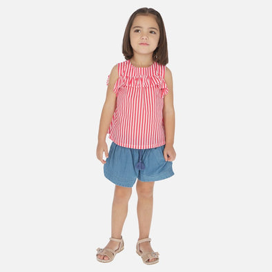 Pantaloni Shorts in Jeans Azzurri | MAYORAL | RocketBaby.it