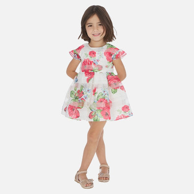 Vestito con Stampa Fiori Fragola | MAYORAL | RocketBaby.it