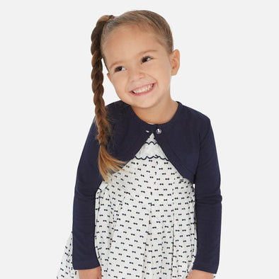 Cardigan Corto con Bottone Blu Navy | MAYORAL | RocketBaby.it