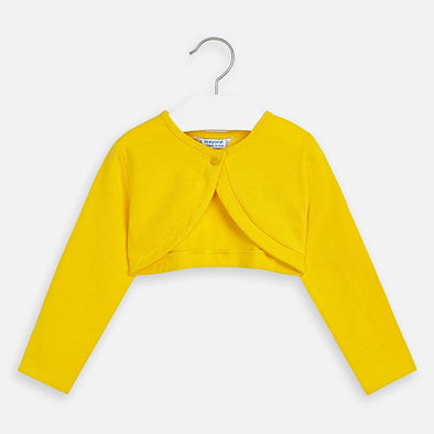 Cardigan Corto con Bottone Giallo | MAYORAL | RocketBaby.it
