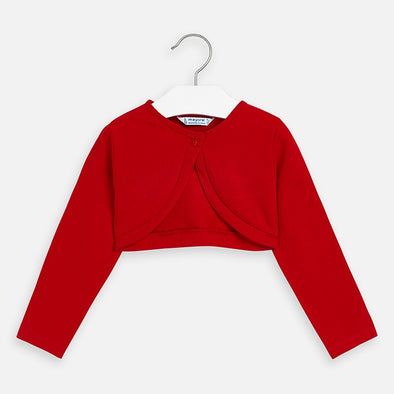 Cardigan Corto con Bottone Rosso | MAYORAL | RocketBaby.it
