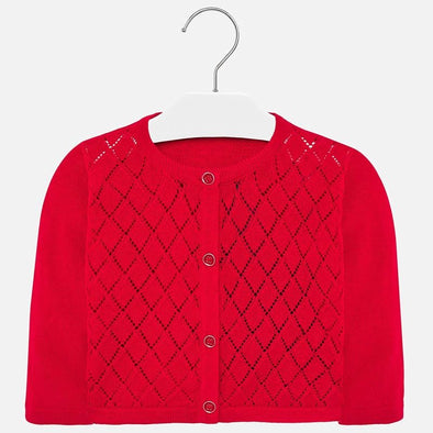 Cardigan a Manica Lunga Rosso | MAYORAL | RocketBaby.it