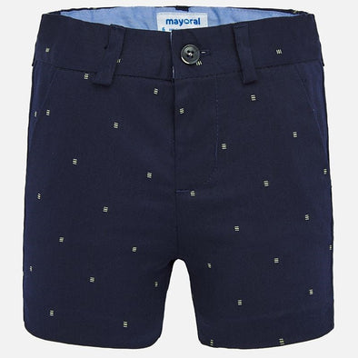 Pantaloni Bermuda Chino Jacquard Blu Navy | MAYORAL | RocketBaby.it