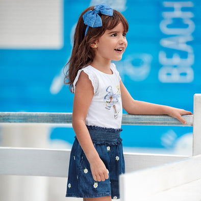 Pantaloni Shorts con Ricami Jeans | MAYORAL | RocketBaby.it