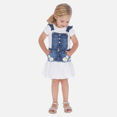Gonna Salopette con Margherite Jeans | MAYORAL | RocketBaby.it