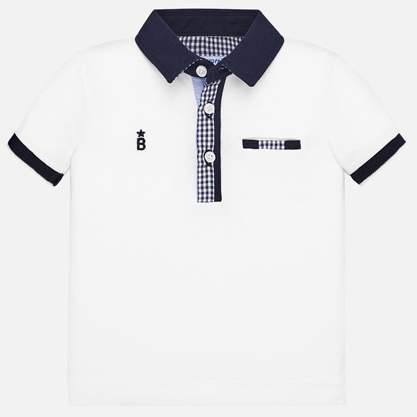 Polo a Maniche Corte Elegante Bianca | MAYORAL | RocketBaby.it