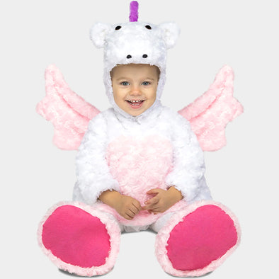 Costume Travestimento Unicorno Peluche 12-24 Mesi | MOM FUN COMPANY | RocketBaby.it