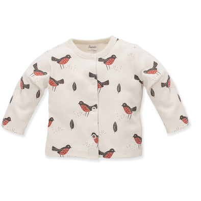 Cardigan con Bottoni Little Bird Ecru Birds | PINOKIO | RocketBaby.it