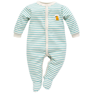 Tuta Intera con Piedini Nice Day Blue Stripes | PINOKIO | RocketBaby.it
