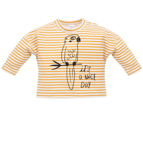 Maglia a Maniche Lunghe Nice Day Yellow Stripes | PINOKIO | RocketBaby.it