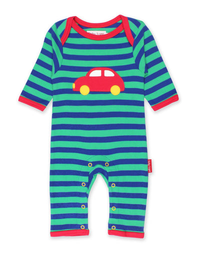 Tutina Pigiamino Organic Red Car Applique