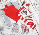 Calzini a Righe e Stelle Rosse | BLADE&ROSE | RocketBaby.it