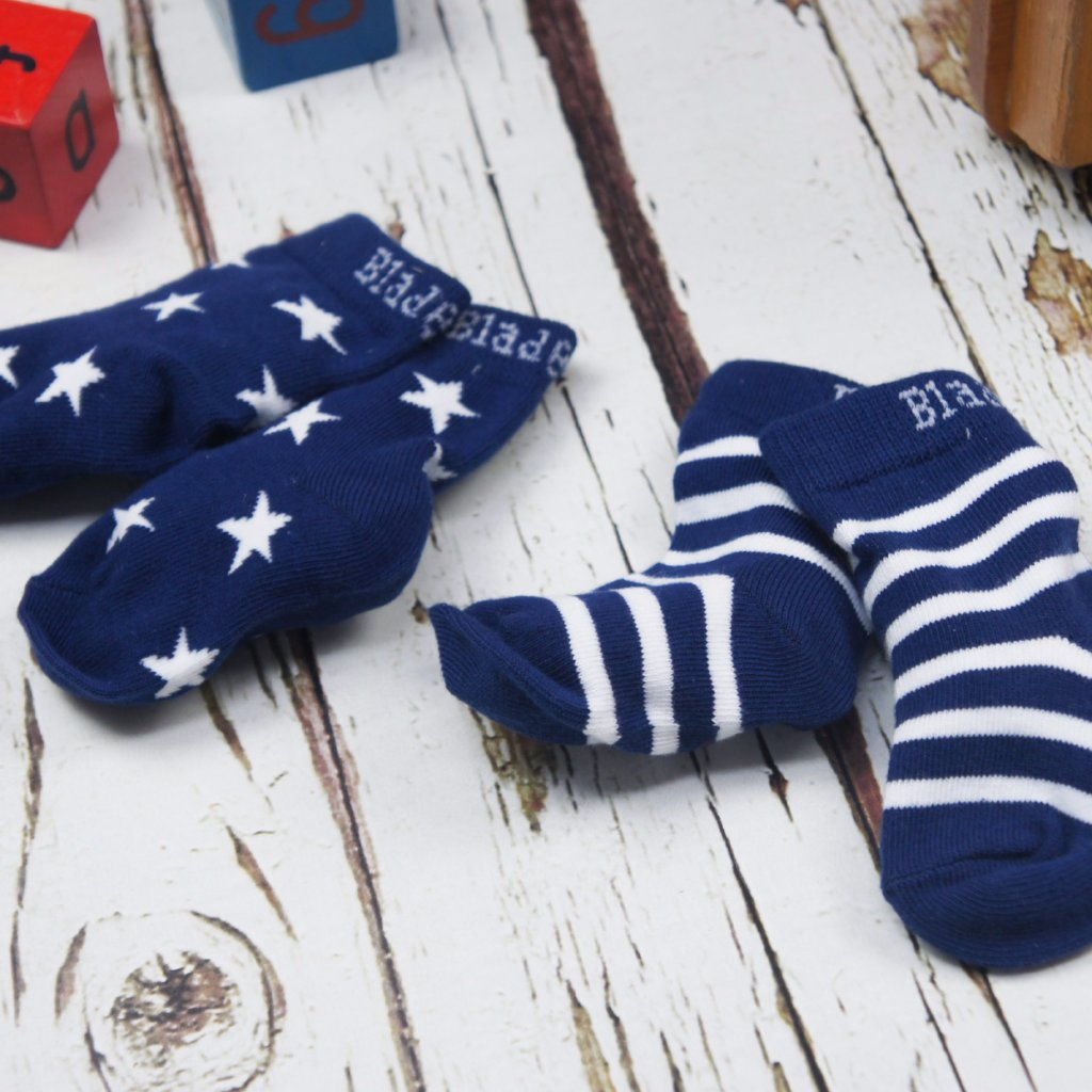 Calzini Stars and Stripes Navy | BLADE&ROSE | RocketBaby.it