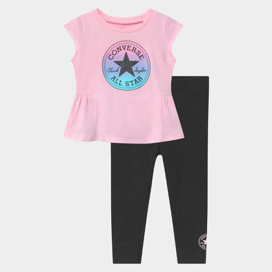Completo Converse Cnvg Ruffle Leggings Set Black