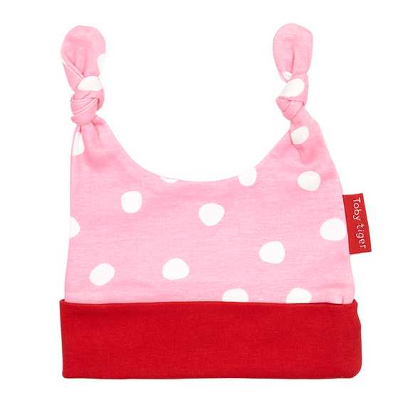 Cappello con Nodi Pois Rosa | TOBY TIGER | RocketBaby.it