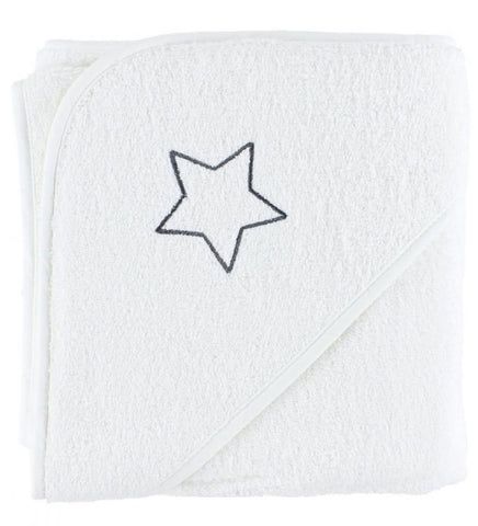 Accappatoio con Cappuccio White Star | PIPPI | RocketBaby.it