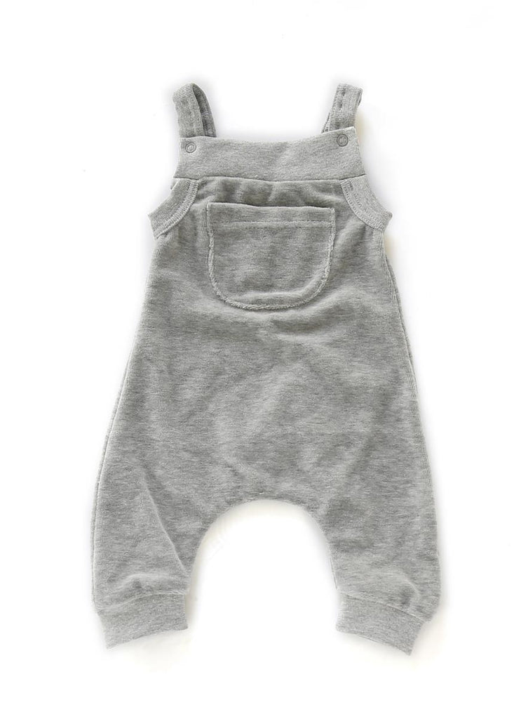 Salopette in Ciniglia Grey Melee | MUNDO MELOCOTON | RocketBaby.it