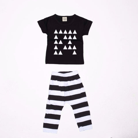 Set 2 Pezzi Maglietta e Pantaloni Triangoli | MIAMI KIDS | RocketBaby.it