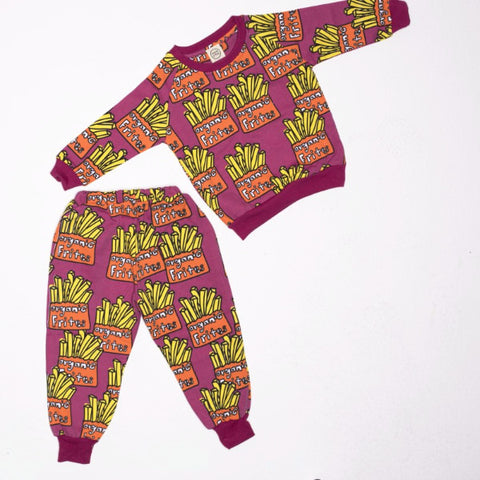 Set 2 Pezzi Felpa e Pantaloni Patatine Fritte | MIAMI KIDS | RocketBaby.it