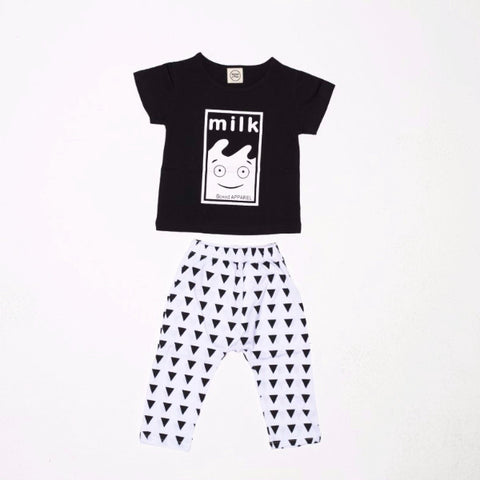 Set 2 Pezzi Maglietta e Pantaloni Latte | MIAMI KIDS | RocketBaby.it