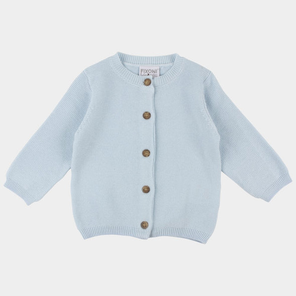 Cardigan Infinity Knit Cashmere Blue