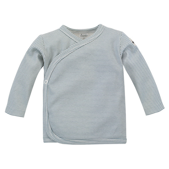 Blusa a Maniche Lunghe con Bottoni Little Car Stripesecru