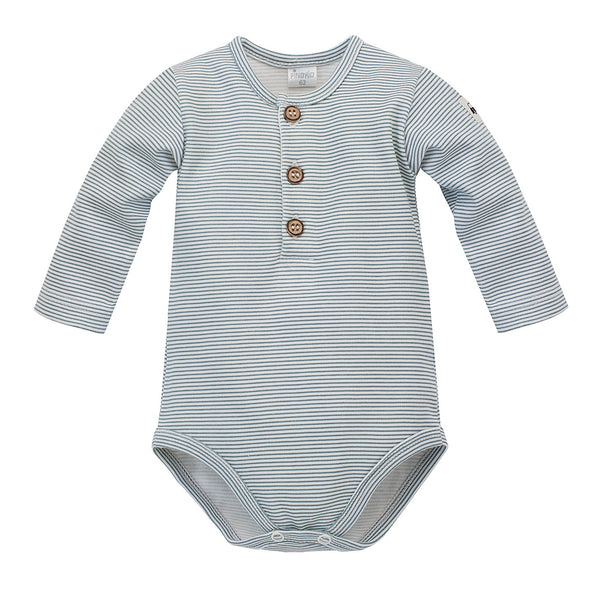 Body a Maniche Lunghe Polo Little Car Stripesecru