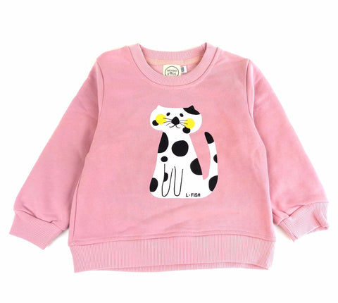 Felpa Gatto Rosa - MIAMI KIDS - RocketBaby.it - RocketBaby
