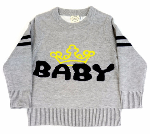 Maglione Baby King Grigio | MIAMI KIDS | RocketBaby.it