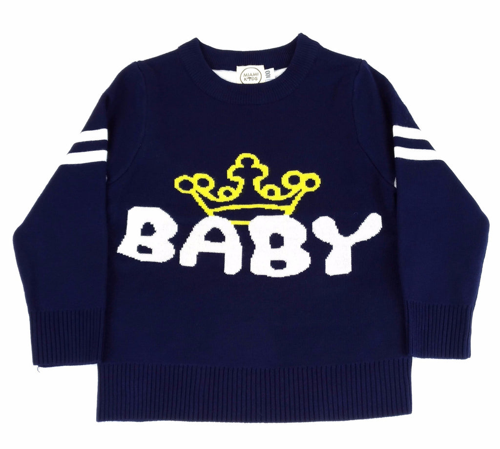 Maglione Baby King Navy | MIAMI KIDS | RocketBaby.it