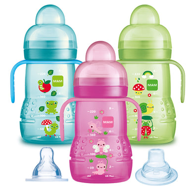 Biberon e Sippycup 2 in 1 220ml | MAM | RocketBaby.it
