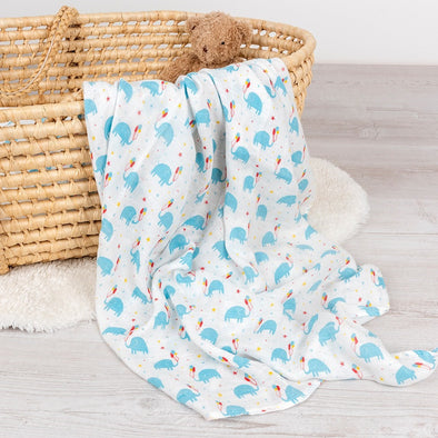 Swaddle in Bambù Elephant Party