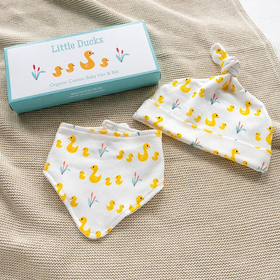 Set Cappellino e Bavaglino Bandana Little Ducks