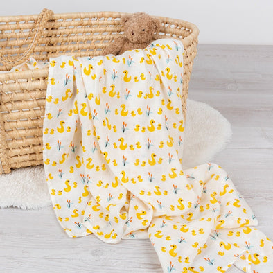 Swaddle in Bambù Little Ducks