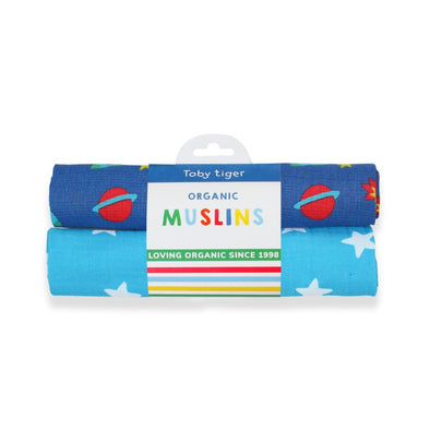 Set 2 Swaddle in Mussola Space