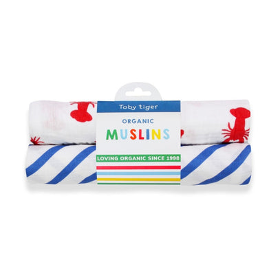 Set 2 Swaddle in Mussola Lobster