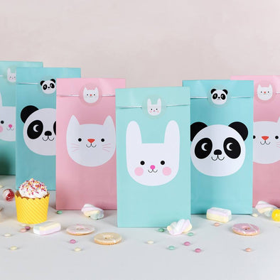 Set 6 Buste in Carta Panda, Bunny e Cat | REX LONDON | RocketBaby.it