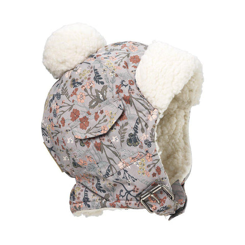 Cappellino Faux Fur Vintage Flower | ELODIE DETAILS | RocketBaby.it