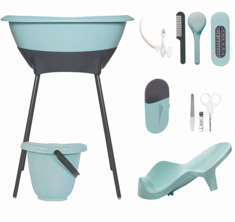 Set Bagno e Cura Completo Silt Green | LUMA | RocketBaby.it