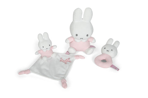 Set DouDou Sonaglio e Peluche Miffy Rosa | TIAMO | RocketBaby.it