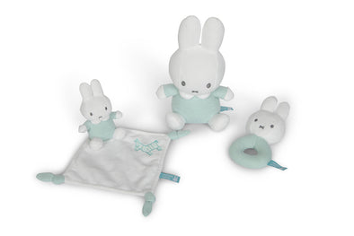 Set DouDou Sonaglio e Peluche Miffy Menta | TIAMO | RocketBaby.it