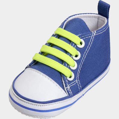Sneaker di Tela Stringhe Neon Blue | PLAYSHOES | RocketBaby.it