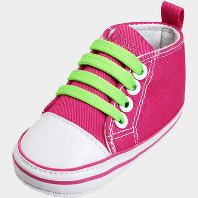 Sneaker di Tela Stringhe Neon Pink | PLAYSHOES | RocketBaby.it