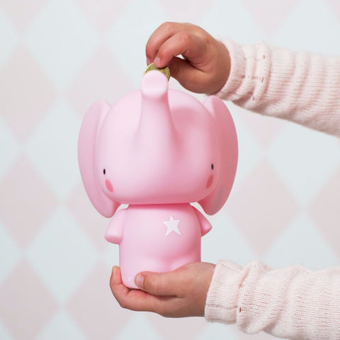 Salvadanaio Pink elephant | A LITTLE LOVELY COMPANY | RocketBaby.it