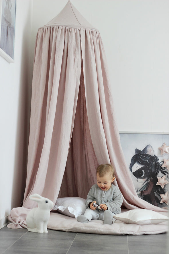 Tenda Baldacchino Exclusive Powder Pink | COTTON & SWEETS | RocketBaby.it