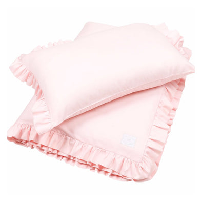 Set Lettino con Volant Rosa | COTTON & SWEETS | RocketBaby.it